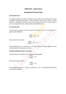 ENEM 2014 | Resolução da Prova de Física | Caderno Rosa
