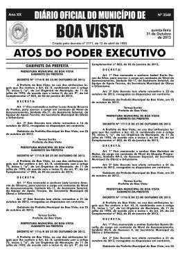 dom nº 3548.indd - Prefeitura Municipal de Boa Vista