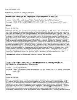 em PDF - Instituto Brasileiro de Avaliação Psicológica