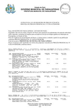 GOVERNO MUNICIPAL DE PARAUAPEBAS