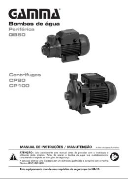 Manual do produto for Bomba de agua manual