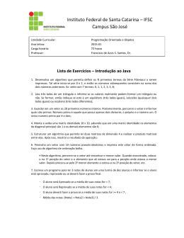 Instituto Federal de Santa Catarina – IFSC - IF