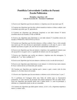 Pontifícia Universidade Católica do Paraná Escola Politécnica