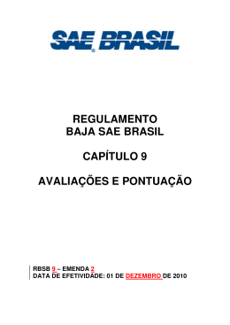 RBSB 9 - SAE Brasil