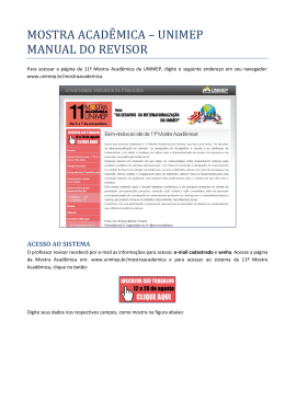 MOSTRA ACADEMICA – UNIMEP MANUAL DO REVISOR