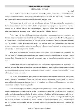 LINGUA PORTUGUESA (10 Questões) DEGRAUS DA - CRO-PA