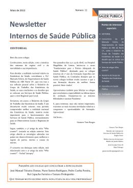 Newsletter Maio 2013