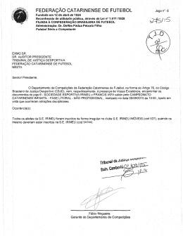 t - Federação Catarinense de Futebol
