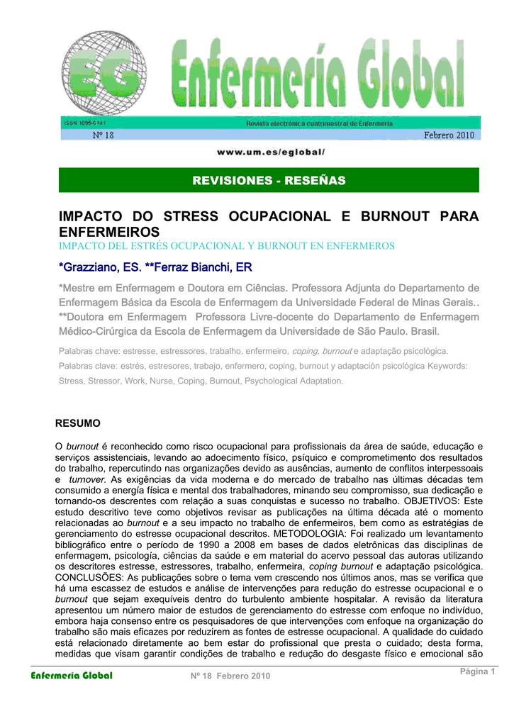 impacto do stress ocupacional e burnout para enfermeiros 2b0b65eba86