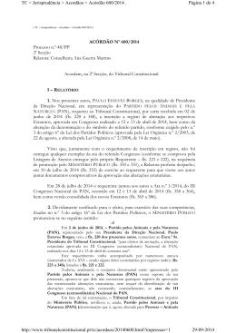 ACÓRDÃO Nº 600/2014 Processo n.º 48/PP 2ª Secção Relatora