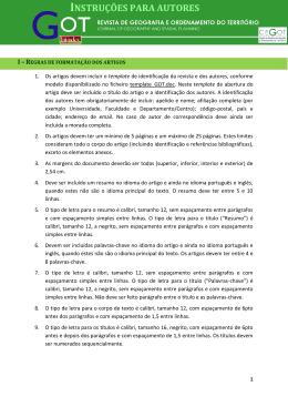 INSTRUÇÕES PARA AUTORES