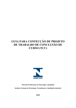 Confecção de Projeto