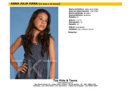 Top Kids & Teens ANNA JULIA VIANA (12 anos e 10 meses)