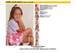 Top Kids & Teens ANNA JULIA ADAO (7 anos e 2 meses)