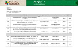 Tabelas 2° Turno LLA no XXIV CIC