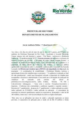 Audiência Pública - 1º Quadrimestre 2015 - Ata