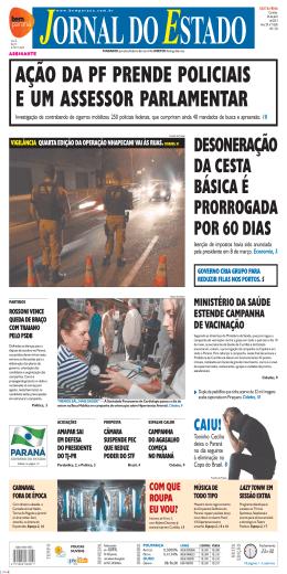 ação da pf prende policiais e um assessor parlamentar