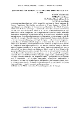 Lages/SC - UNIPLAC - 07 a 09 de dezembro de 2015