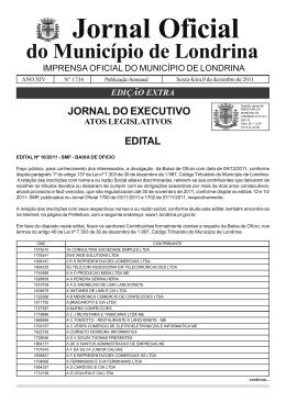 Edital nº 16/2011 - SMF