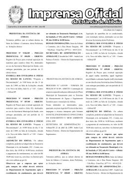Imprensa Oficial - Prefeitura de Atibaia