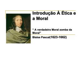 Introdução À Ética e a Moral