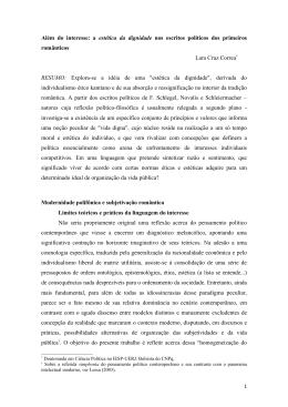 Além do interesse - Associação Brasileira de Ciência Política