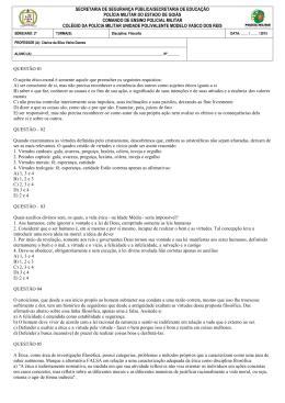 Atividade Ética - 2o G e H - Colégio da Polícia Militar de Goiás