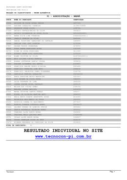Resultado Geral do Vestibular 2012.2