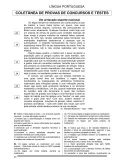 COLETÂNEA DE PROVAS DE CONCURSOS E TESTES