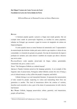 O Conto Popular: um Tesouro Cultural da Língua Portuguesa