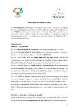 Regulamento Prêmio Mercosul de Artes Visuais