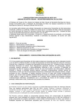 Convocatória Exposições - Prefeitura Municipal de Caxias do Sul