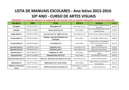 Artes Visuais - Agrupamento de Escolas de Alcochete