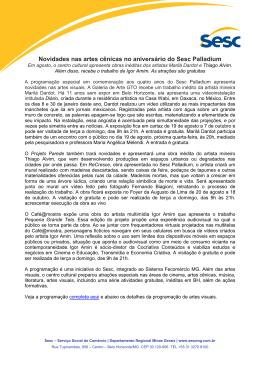 2015_08_13 - Release artes visuais programação Sesc Palladium
