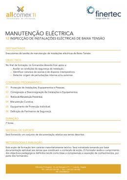 Inspecção de Instalações Eléctricas de Baixa Tensão