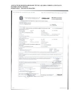Anotações e Registros de Responsabilidade Técnica