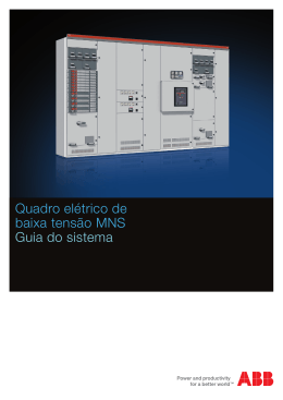 Quadro elétrico de baixa tensão MNS Guia do sistema