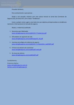 Coletânea de artigos publicados no JCS... 06 de fevereiro de 2015