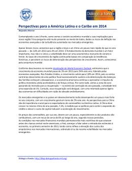 Perspectivas para a América Latina e o Caribe em 2014