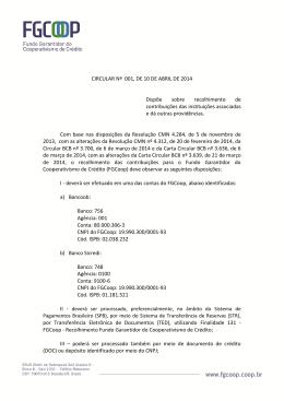 Circular FGCoop 001, de 10 de abril de 2014