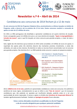 Newsletter n.º 4 – Abril de 2014