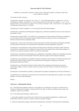 Resolução SMA Nº 32 DE 03/04/2014 Estabelece