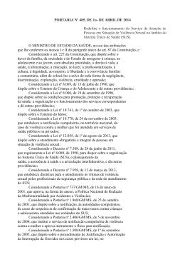 portaria nº 485, de 1º de abril de 2014