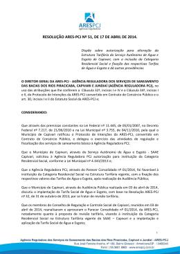 RESOLUÇÃO ARES-PCJ Nº 51, DE 17 DE ABRIL DE 2014.
