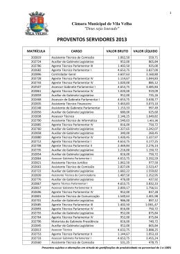 PROVENTOS SERVIDORES 2013 - Câmara Municipal de Vila Velha