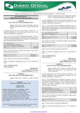 Diário Oficial dos Municípios do Paraná nº 585