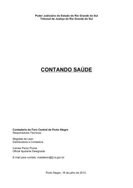 CONTANDO SAÚDE - Tribunal de Justiça do Estado do Amazonas