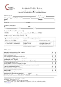 Requisição Estudo Poligráfico do Sono