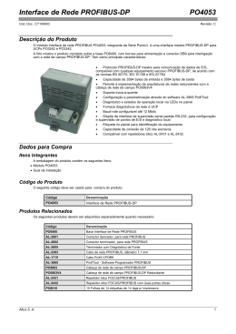 PO4053 - Interface de Rede PROFIBUS-DP