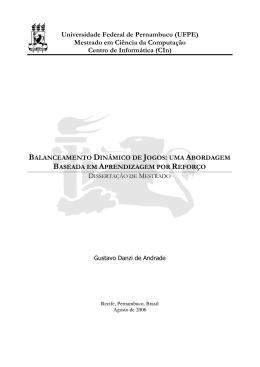 Mestrado em Ciência da Computação Centro de Informática (CIn)
